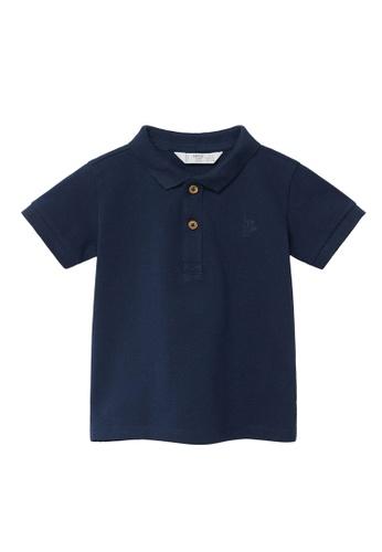 MANGO BABY blue Organic Cotton Polo Shirt 09322KAB12AFE1GS_1
