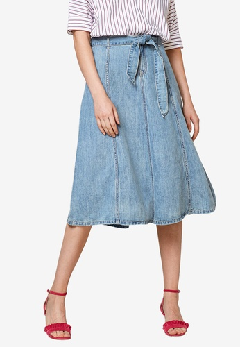 ESPRIT blue Denim Midi Skirt D3AE5AAAD9033EGS_1