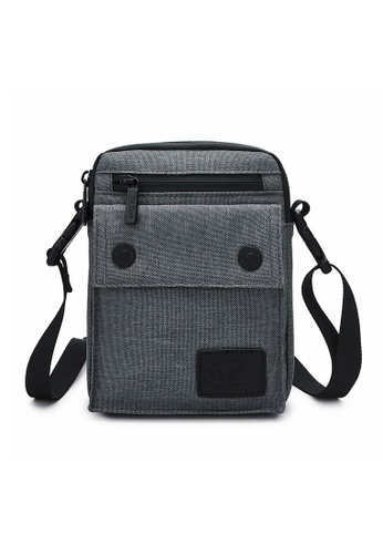 The Dude grey Imagine Messenger Bag AB577AC70A4A04GS_1