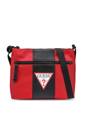 Guess black and red Central Sacoche Bag F1751AC391BDACGS_1