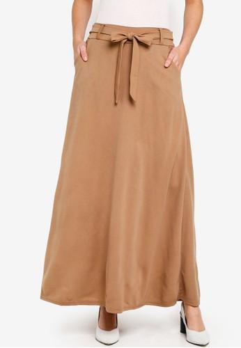 BYN brown Long Skirt 2D8A3AAD57B00EGS_1