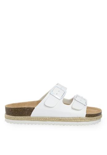 Footspot white FOOTSPOT – Double Buckles Cork Sandals EFAC9SH7369B71GS_1