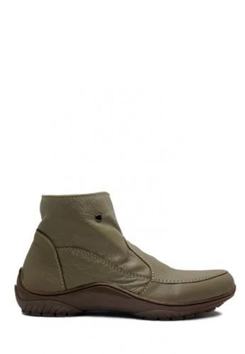 D-Island brown D-Island Shoes Zipper Slip On High Quality Genuine Leather Grey DI594SH50EXXID_1