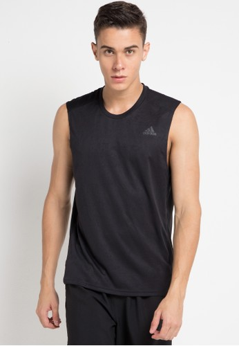 adidas black adidas adidas own the run sleeveless tee m 12383AAC830707GS_1