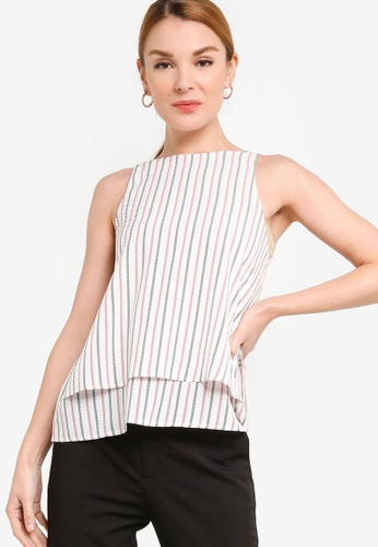 ZALORA WORK 多色 Round Neck Double Layer Top AF264AA49AA1DDGS_1