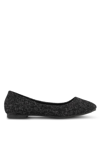 Mimosa black Woven Flats CC8C7SH372703DGS_1