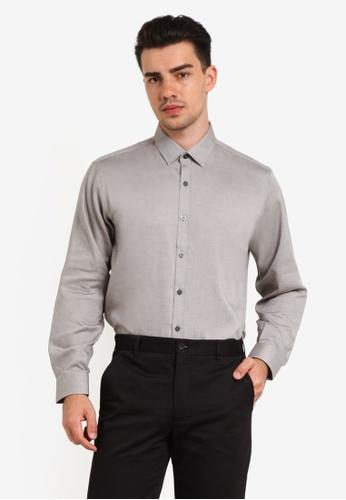 Kent & Crew grey Custom Fit Long Sleeve Shirt KE579AA0RJRLMY_1