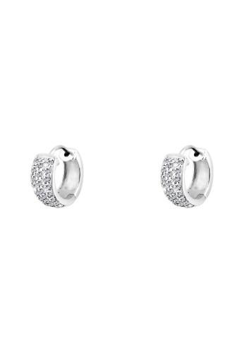 Creole 施華洛esprit童裝門市世奇水晶 925 純銀耳環, 飾品配件, 耳扣