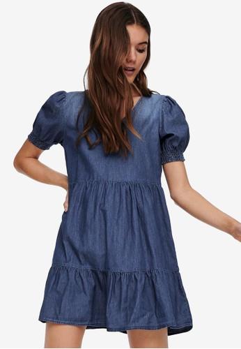 JACQUELINE DE YONG blue Bella Frill Dress 76608AA9EF1EB6GS_1