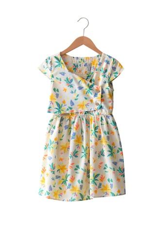 LC Waikiki white Poplin Girl Dress A884BKAE4A9D0FGS_1