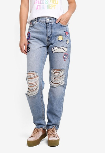 Superdry blue Harper Boyfriend Jeans 6A719AA084E20DGS_1