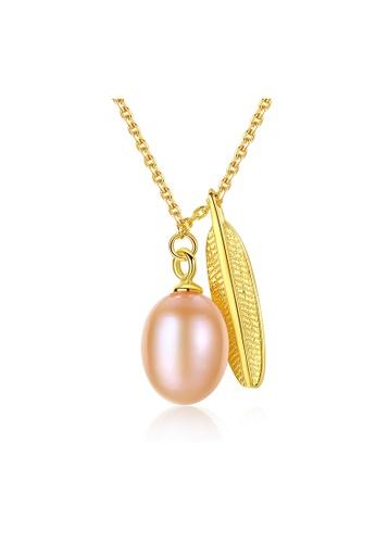 MATCH gold Premium Color Stone Leaf Necklace 911B4ACF7697B2GS_1