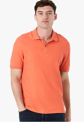MARKS & SPENCER orange Pure Cotton Polo Shirt F78F1AAAD5A3A6GS_1