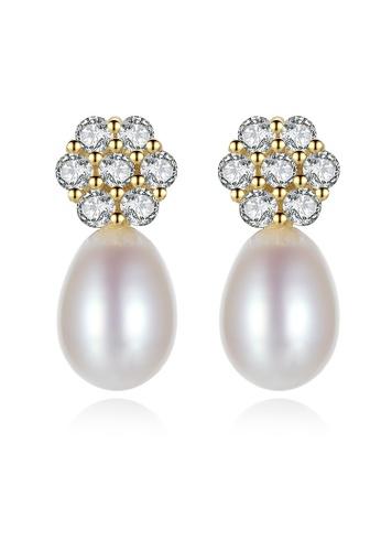 SUNRAIS silver High-grade colored stone silver fashion earrings EA2BBAC8045D44GS_1