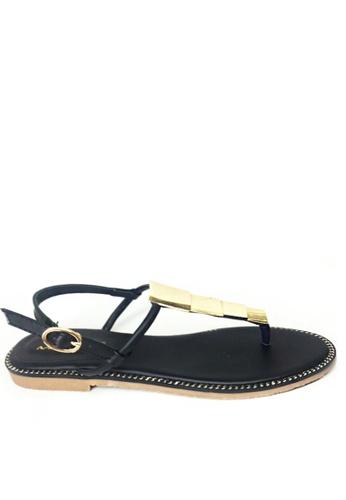 Twenty Eight Shoes black Metal piece sandal TW446SH07SFGHK_1