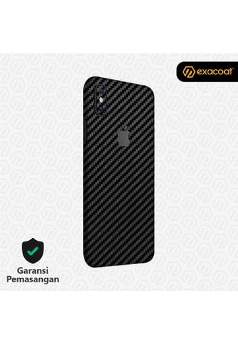 Exacoat iPhone XS Skins Carbon Fiber Black - Cut Only C3B0FES36D7244GS_1