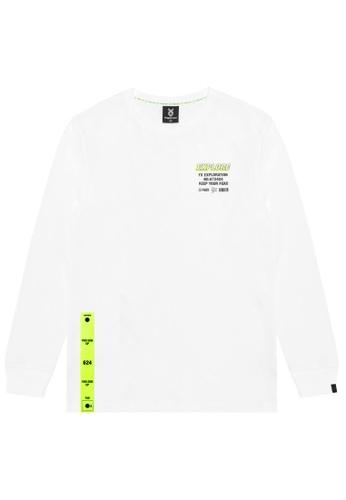 Fingercroxx white Slogan print tee 9305CAA7F1E5C8GS_1