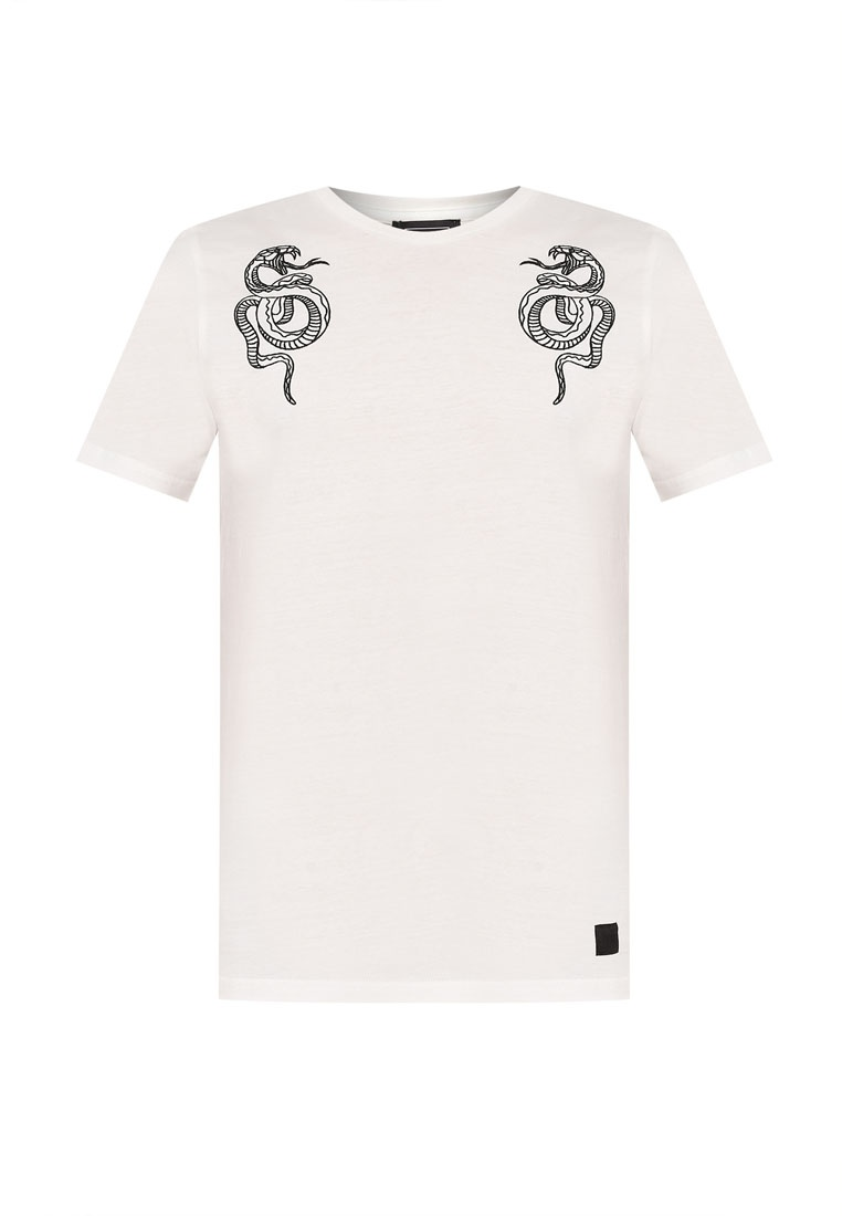 IMP Snake Shirt White Embroidery Garter T Flesh Fwgqx