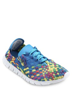 Colourful Wooven Strapy Sneakers