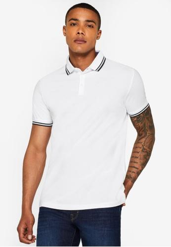 ESPRIT 白色 Pique Polo 襯衫 AA8D1AA9125776GS_1