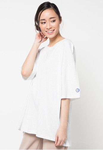 Envy Look white Embroidery Point T-Shirt EN694AA04CPJID_1