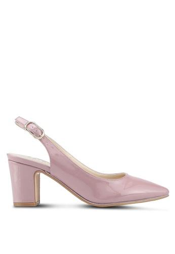 ZALORA pink Sling Back Patent Heels BE62CSH2CE1A1EGS_1