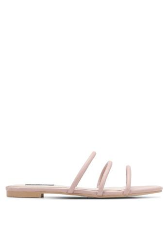 ZALORA pink Triple Strap Sandals 6E42FSH5C7091CGS_1