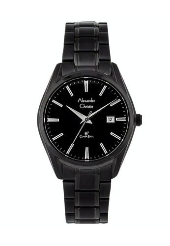Alexandre Christie black Alexandre Christie Jam Tangan Wanita - Black - Stainless Steel - 8554 LDBIPBA 7035BAC66BE0ABGS_1