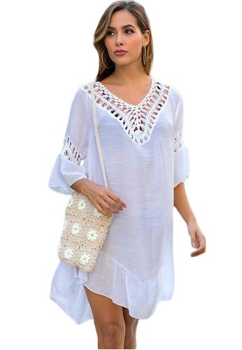 LYCKA white LTH4149-European Style Beach Casual Outer Dress-White 18AE3USF4253D4GS_1