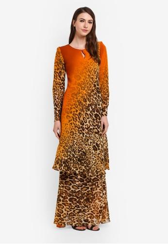 Zuco Fashion orange Mini Kurung Mermaic Bias Cut 9A7D9AA6025493GS_1