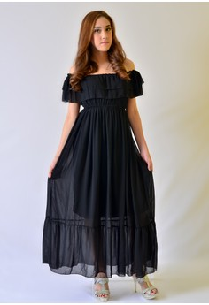 AW Maxi Chiffon Off Shoulder