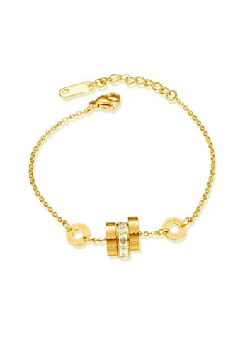 CELOVIS gold CELOVIS - Augusta Roman Numeral with Zirconia Bracelet in Gold C92B4ACA6AEA64GS_1