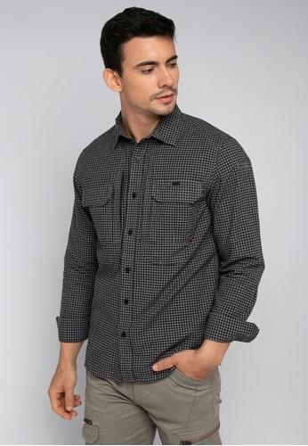 MGEE grey MGEE Checkered Shirt 306E4AA106AD1BGS_1