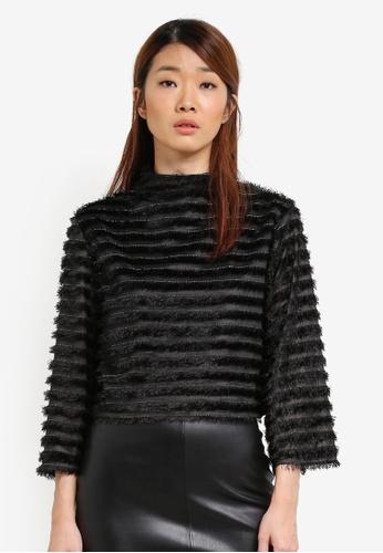 Something Borrowed black Flare Sleeve Boxy Sweater 64349AAA2AD3E7GS_1