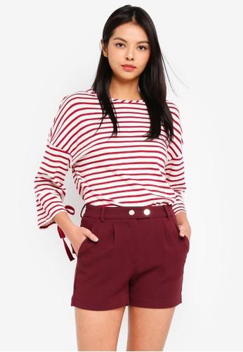 ESPRIT 紅色 Bow Sleeve Sweatshirt 97019AACD10C5BGS_1