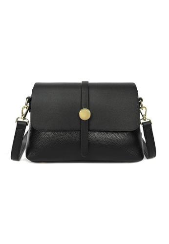 Lara black Women's Cowhide Flap Cross-body Bag - Black 22B4FAC55CC53CGS_1