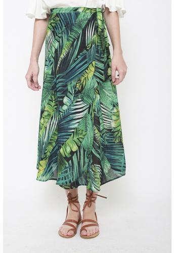 Sophialuv green It's a Tie Maxi Skirt in Tropicana E6815AA3B724B8GS_1