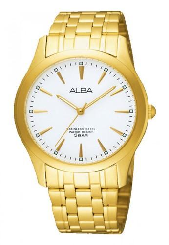 Alba gold Jam Tangan Pria Alba Original Garansi Resmi ARSY08 ARSY08X1 Strap Stainless Steel Gold 689CDAC0A40620GS_1