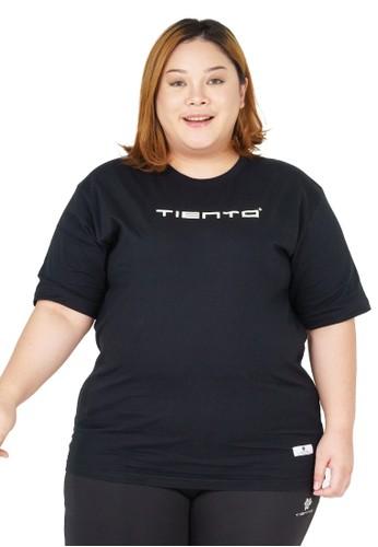 Tiento black Tiento T-Shirt Jumbo To Move Black Baju Wanita Kaos Lengan Pendek Big Size 2E53BAACE7051AGS_1