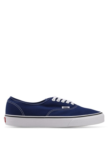 VANS white and blue Authentic Sneakers VA142SH0SWPLMY_1