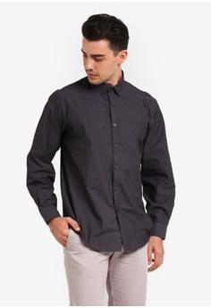 Kent & Crew black Custom Fit Long Sleeve Shirt KE579AA0RJRHMY_1