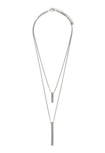 雙股式條飾項鍊,zalora 衣服評價 飾品配件, 飾品配件