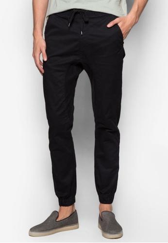 Cotton On 黑色 Drake Cuffed Pants CO372AA70ZVXMY_1