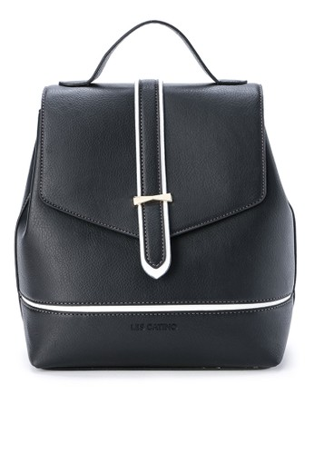 Les Catino black Ramone Backpack 81304AC99E3E94GS_1