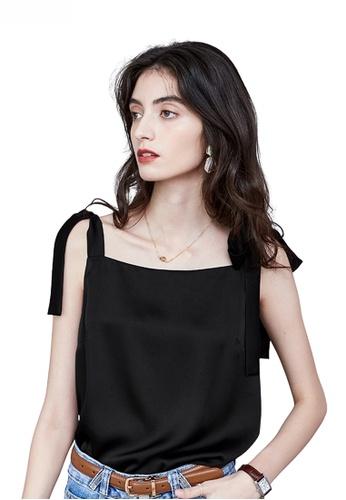 HAPPY FRIDAYS black Classy Ribbon Strap Vest JW VY-W2112050 F60CBAAE1395AEGS_1