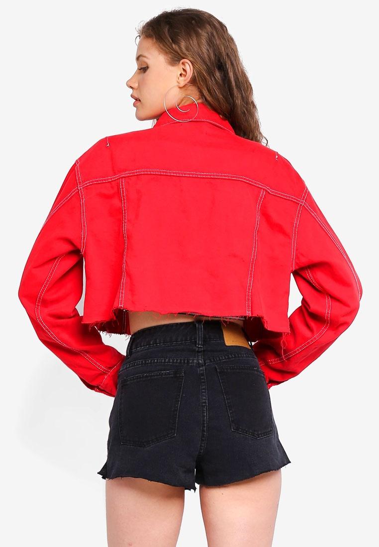Jacket Crop Denim Factorie Crop Factorie Lychee TgqqwP