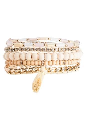 ALDO beige Diostea Bracelet Pack 186A3ACDABF8CAGS_1