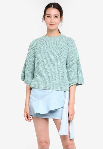 Mango green Oversize Sweater MA193AA72EBZMY_1