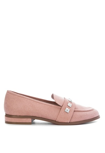 on sale strong packing how to find Faith - Suedette 'Wes' Studded Wide Fit Loafers