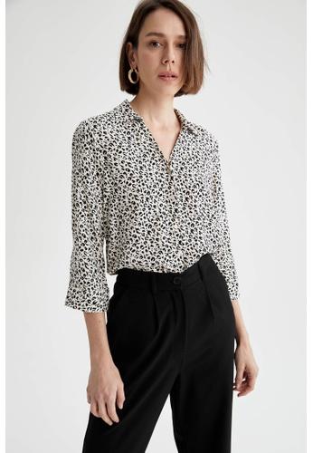 DeFacto brown Woman Woven Long Sleeve Shirt 55976AA5CC9227GS_1